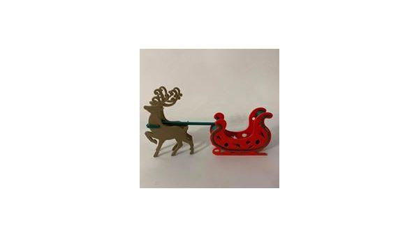 Le renne et son traîneau